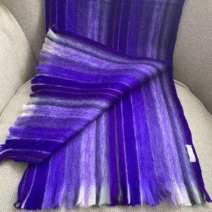 Alpaca Seamless Purple Scarf - Artisan made